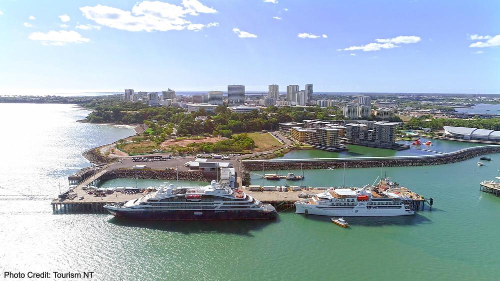 Cruise ships moored in Darwin, Northern Territory Australia