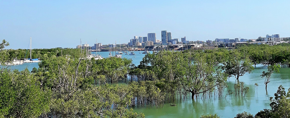 View of the Darwin skyline from across the inlet