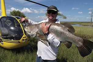 Catch a Barramundi with Helifish, Darwin NT