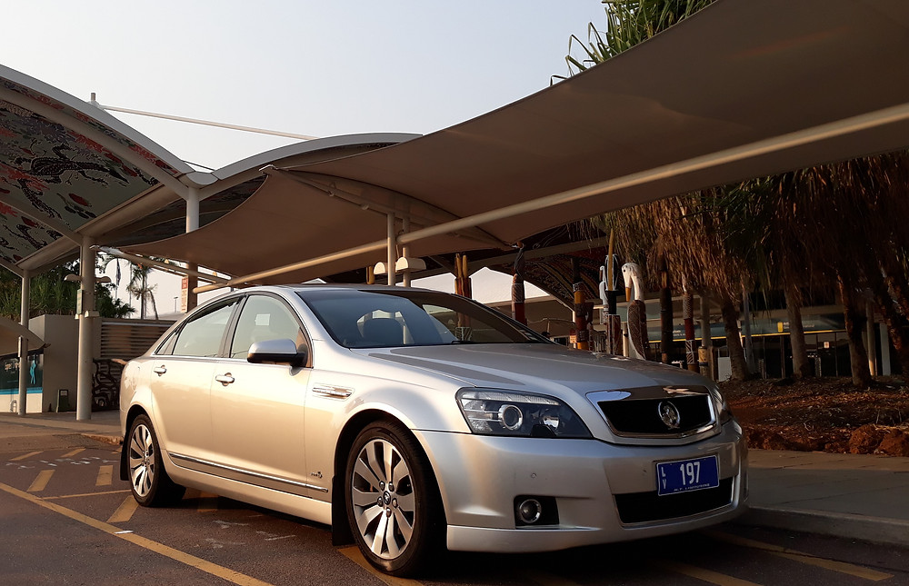 The stylish Statesman Caprice waits for guests to arrive at Darwin International Airport