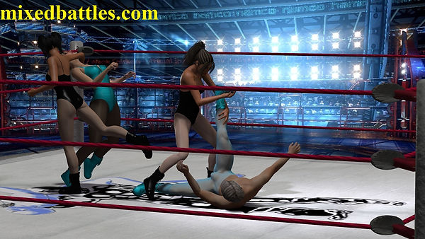 tag team mixed wrestling submission