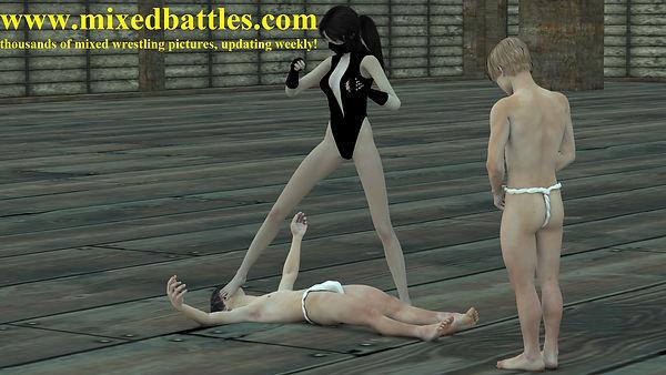 japanese fighting femdom fetish ninja girl's bare foot on male's face