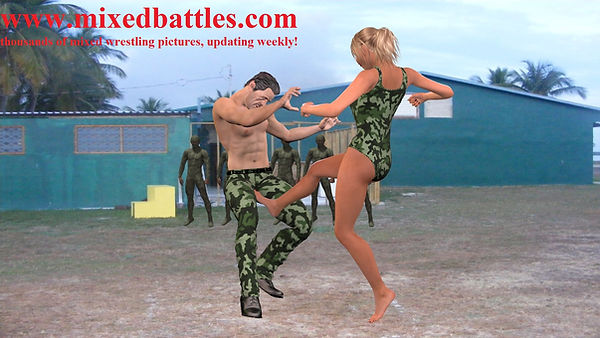 military sparring ballbusting army female domination fighting