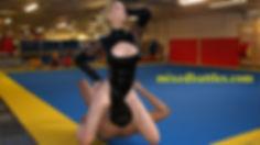 facesitting mixed wrestling leotard femdom oral sex
