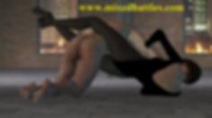 mother vs son leotard CFNM homemade mixed wrestling femdom bodyscissors
