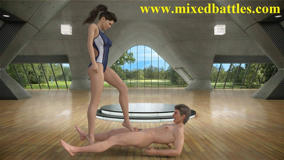 CFNM husband vs wife fantasy ballbusting femdom game
