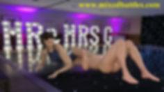 wife vs husband leotard CFNM mixed wrestling headscissors femdom