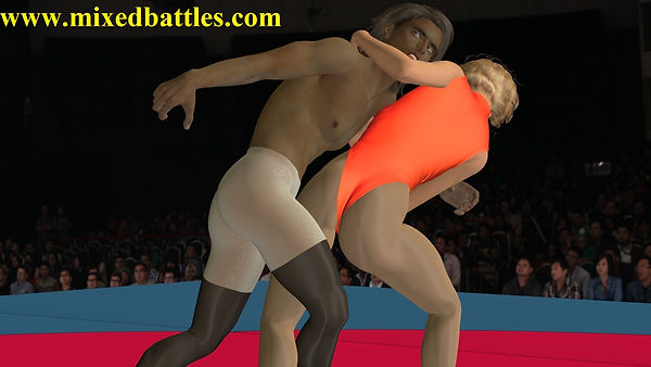 young teens mixed wrestling female domination