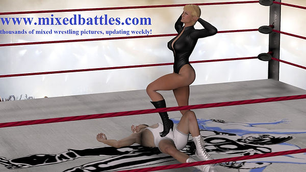 mother vs son femdom mixed wrestling ball stomping leather boots high heels fetish