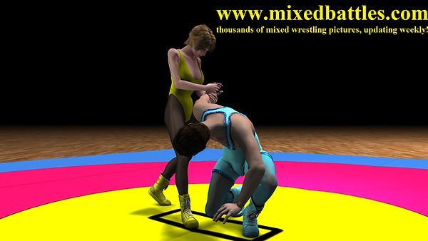 mixed wrestling hold armlock leotard femdom fighting woman wins