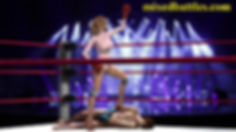 CFNM mixed boxing ballerina victory pose