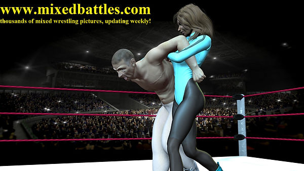 woman vs man police arrest armlock femdom leotard fighting