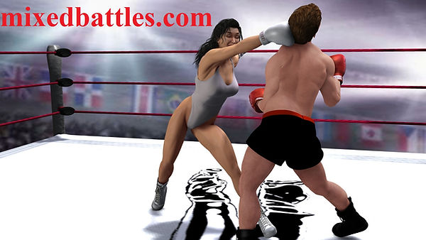 mixed boxing stories leotard female domination boxing gloves