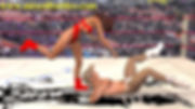 mixed wrestling red leotard femdom fighting