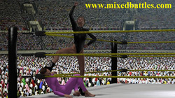 mixed wrestling victory pose