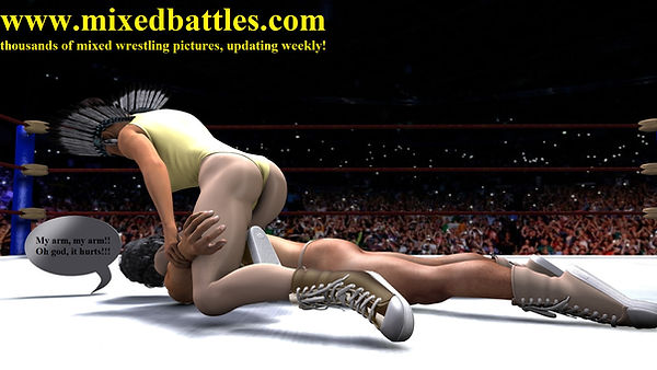 mixed wrestling indian woman leotard femdom fighter