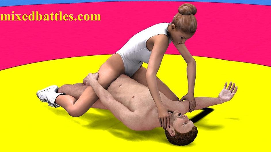 cfnm femdom sex nude wrestling leotard fighting
