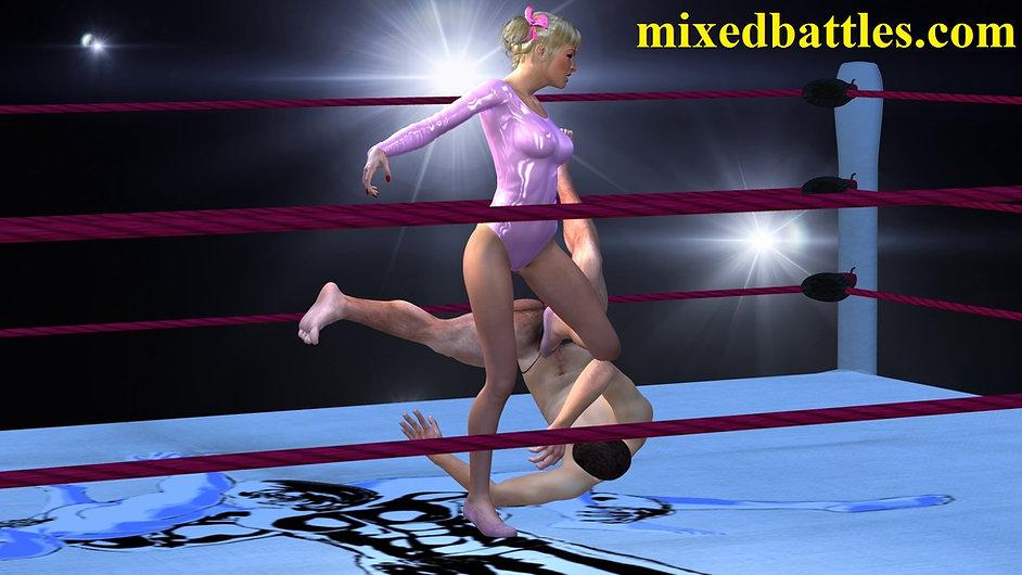 cfnm gym leotard femdom ballbusting mixed wrestling