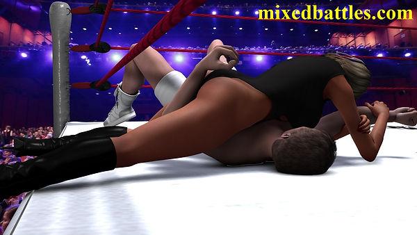 mother vs son mixed wrestling femdom fighting