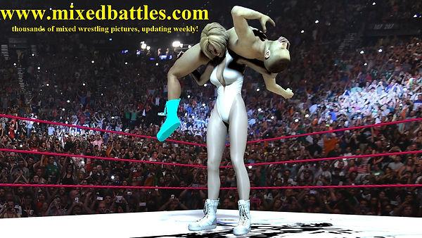mixed wrestling backbreaker leotard fighting femdom pictures