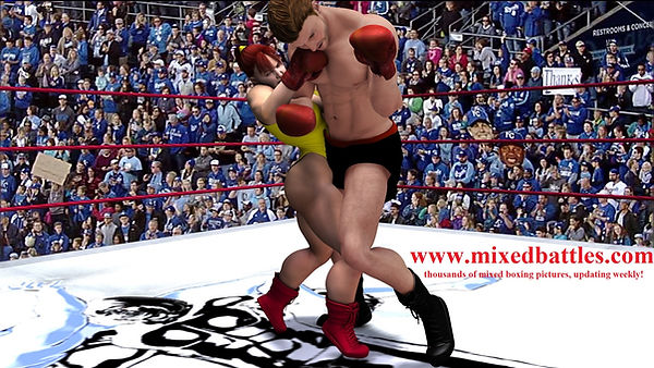 mixed boxing giant vs midget femdom fighting leotard punch
