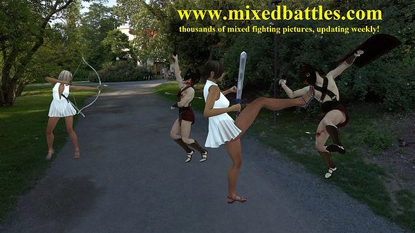 amazons vs roman soldiers femdom fighting ballbusting