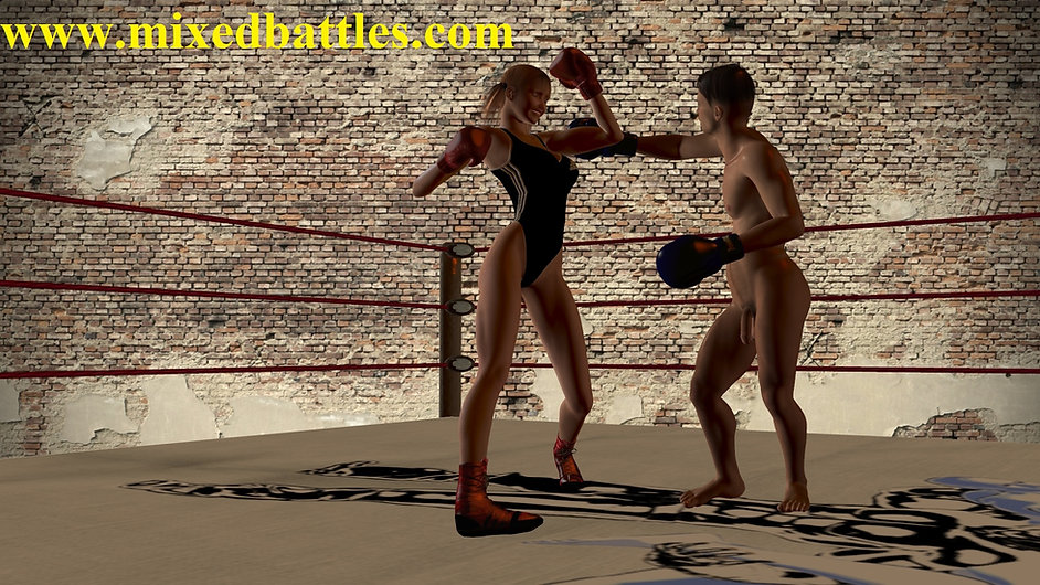 teenagers femdom CFNM underground fighting club mixed kickboxing