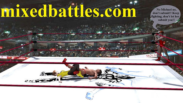 tag team mixed wrestling teenagers sister vs brother fighting