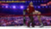 armlock mixed wrestling tag team leotard female domination match