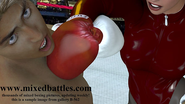 sister vs brother mixed boxing femdom match