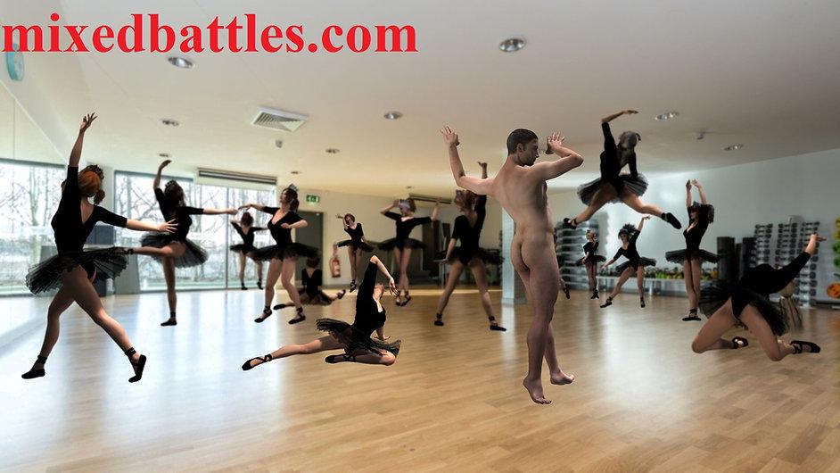 CFNM dance class ballet leotard femdom