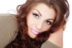 Girl with amazing eyes and makeup
