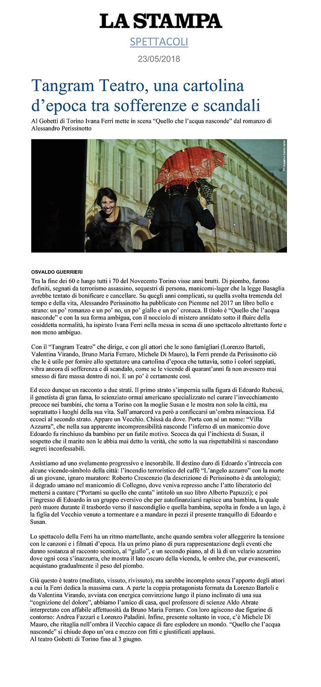 Rassegna stampa Osvaldo Guerrieri
