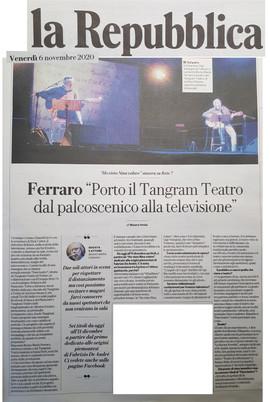 11 06 20 LA REPUBBLICA  Ferraro Porto il