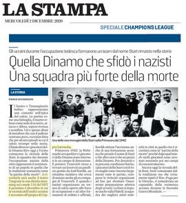 12 02 20 LA STAMPA Quella Dinamo che sfi
