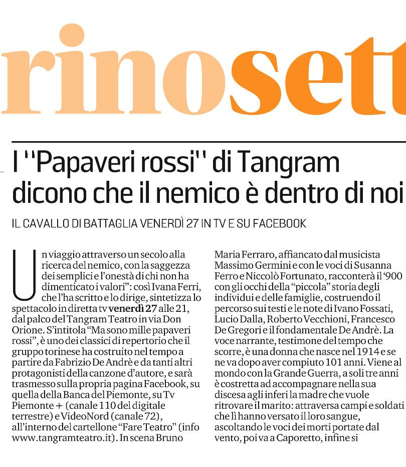 11 27 20 TORINO SETTE   I Papaveri Rossi