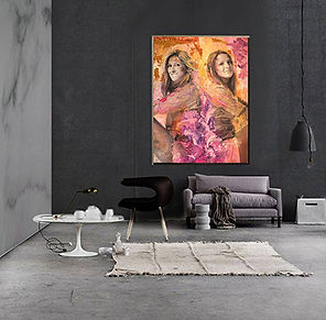 portrait art canvas