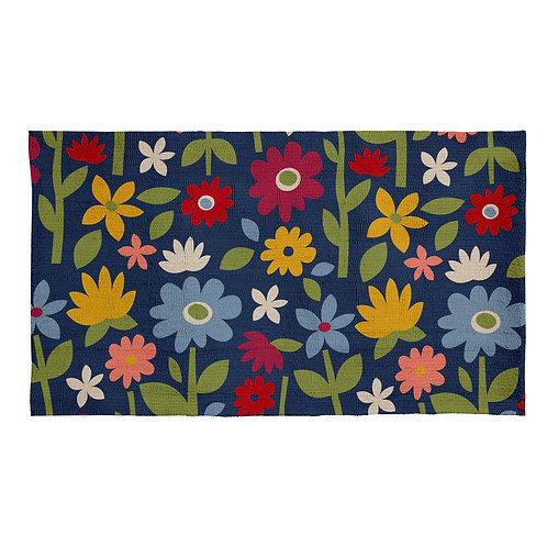 wildflower garden rug