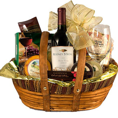 Gourmet Cheese & Wine Basket