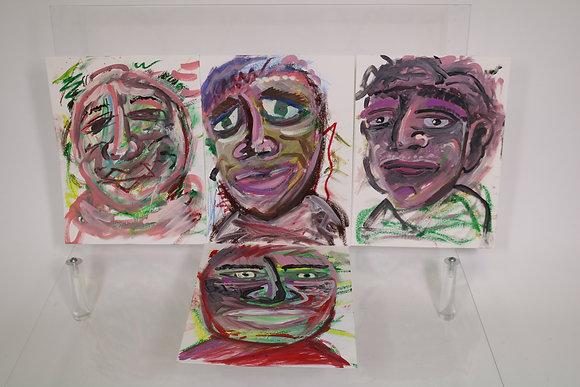 Self-Portrait (in Pastel #1-4)