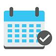 Teal calendar icon