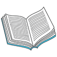 Teal book icon