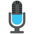 Teal microphone icon