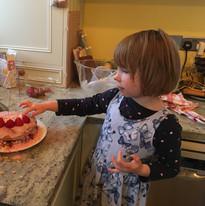 Tine and Birthday Cake