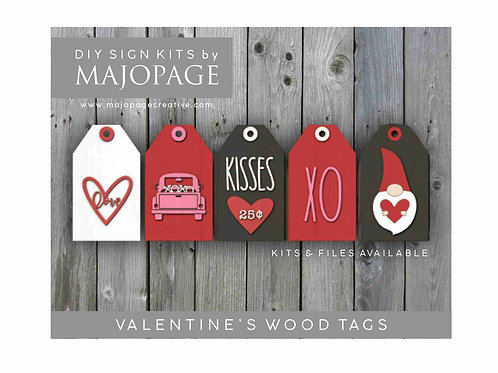 DIY Valentine Wood Tags - Wood cuts only