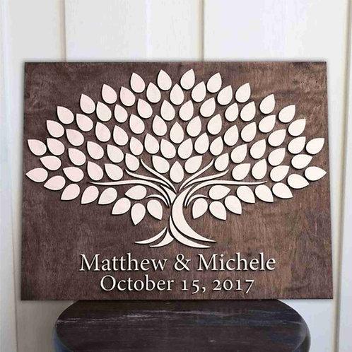 Wedding / Event 3D Guestbook alternative - Centered Tree