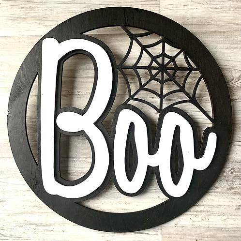 'BOO' 3D Front door sign
