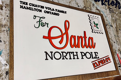 Letter to Santa Personalized Laser Cut Sign