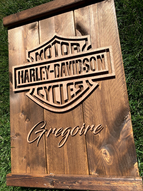 Harley Davidson Personalized Wooden sign