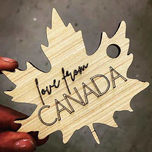 Love from Canada Ornament - Set of 5